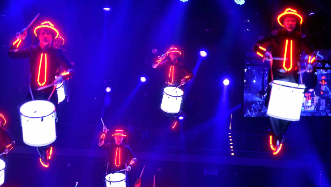 LED Drummers – live on air for German TV-show